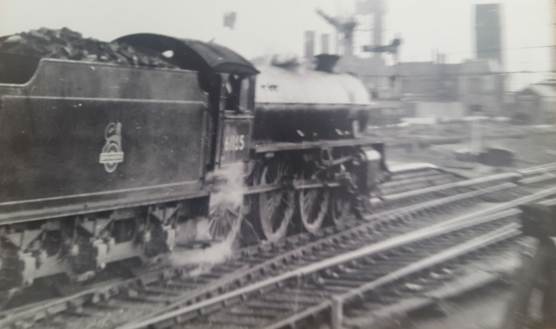 B1 Loco leaving Stairfoot to Doncaster mid 1950