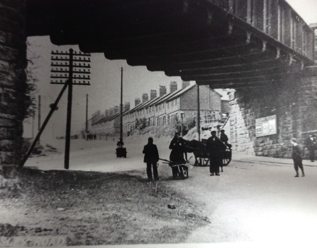 Railway Bridge Doncaster Road early 1900s