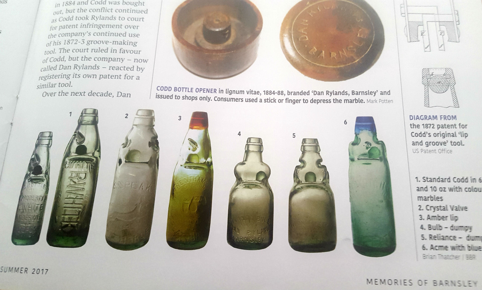 Variations in Standard Codd Bottles